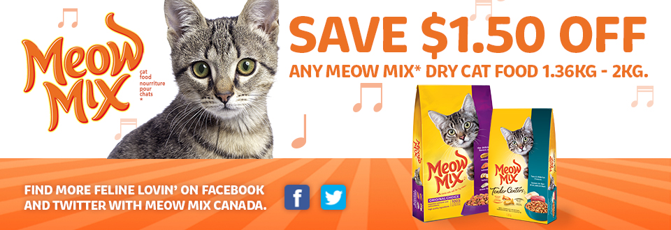 picture about Meow Mix Coupon Printable identify Meow mixture dry cat food items discount codes : Ideal 19 television set specials