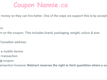 Walmart Coupon Policies